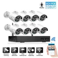 1080P HD 4/8CH Wireless IP CCTV System NVR WiFi IR-CUT Outdoor Home Security Cam