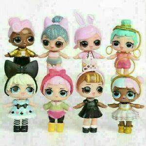 New 8 Pcs LOL Dolls L.O.L Surprise Ball Lil Sisters Pets Toys Girls Set Figure