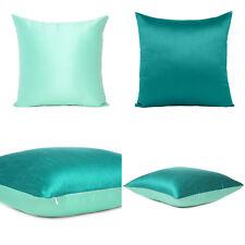 Teal Blue Sea Green Cover Cushion Both Pillow Sides Case Throw Sofa Square 18x18