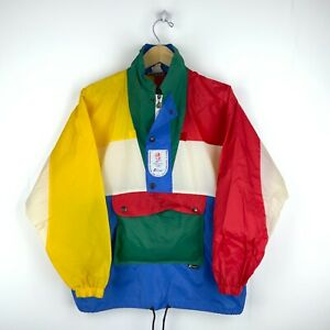 1992 Albertville Olympic Games Vintage K-Way Windbreaker Jacket Size Small 90s