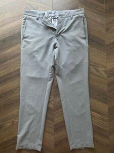 Adidas golf trousers Grey 32w 30 leg DUSTIN JOHNSON