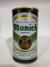 MUNICH STRAIGHT STEEL PULL TAB BEER CAN OCOC PARAGUAY