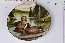 "The Blue Winged Teal Collector Plate Jerner 8.5"" Edwin M Knowles Box & Coa Ducks"