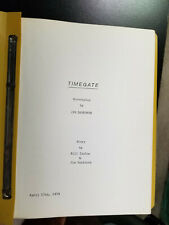 TIMEGATE legendary RARE unproduced screenplay by animator Jim Danforth from 1979