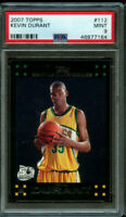 2007-08 Topps Kevin Durant Rookie #112 PSA 9 Mint RC Black Border 💎 🔥