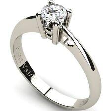 Engagement Round White Gold VS1 Fine Diamond Rings