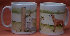 WHIPPET DOG MUG OFF TO THE DOG SHOW WATERCOLOUR PAINTING SANDRA COEN ARTIST