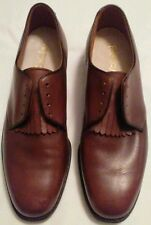 Vintage FOOTJOY Leather Smooth Toe Metal Cleats Golf Shoes Size 9 C Brown Dress