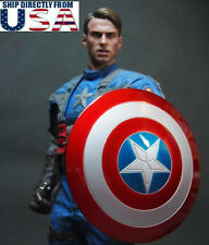 1/6 Captain America Shield 2.0 Metal Material Buckle Hand For Hot Toys U.S.A.
