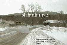 Boston & Maine RR  Blair NH  snowplow extra  covered bridge 1972