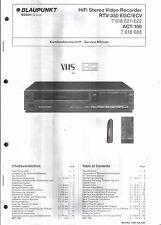 Blaupunkt original Service Manual para vídeo RTV 330 act-100
