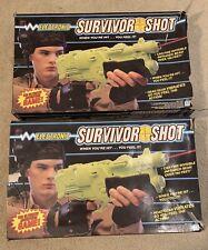 Hasbro 1987 Electronic Survivor Shot Green Laser Tag Guns.(2 Guns Total)
