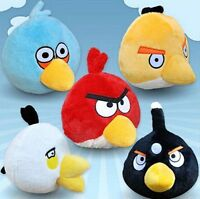 """8"""" PLUSH ANGRY BIRDS AND ANGRY PIG SOFT TOYS ANGRY BIRDS TOYS FREE XMAS GIFT 5ps"""