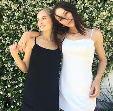 New! brandy melville fitted stretchy black slip Lillian dress NWT sz S
