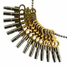 Set De 14 De Reloj De Bolsillo Claves Tamaño 00-12 Herramientas Enrollador Vintage Enrollador clave