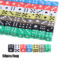 50Pcs 5mm Color Six Sided Spot Dice Toy Birthday Party Playing Game 7 Colors