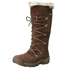 New CATERPILLAR Devlin Brown Waterproof Leather Fur Winter Boots Womens 5