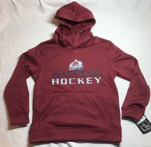 NWT NHL Colorado Avalanche Youth Hoodie Sweatshirt Small (8) or Large 14/16