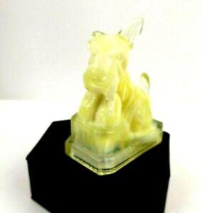 """Boyd Art Slag Glass Scotty Westie Terrier Dog Figurine Yellow Glass 3"""""""