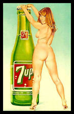 Sexy Nude 7up Girl FRIDGE MAGNETS Poster Pin up Canvas Prints 2.5x3.5