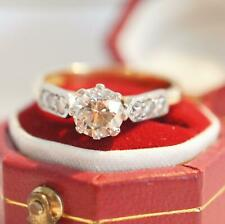 Exclusiver englischer vintage Ring mit 0,83ct Brillanten 750/000 Gelbgold A3033