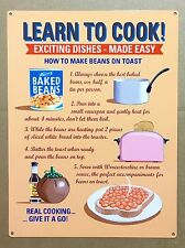 Learn To Cook! Exciting Dishes - Tin Metal Wall Sign