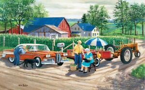 Jigsaw Puzzle Car Doc's New Edsel Farm Life Medical 300 pieces NEW made in USA