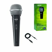 "Shure SV100-W Multi-Purpose XLR-1/4"" Microphone and Cable"