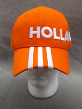 adidas HOLLAND UEFA EURO 2016 Buckle Adjustable Orange Baseball Hat Ball Cap NEW