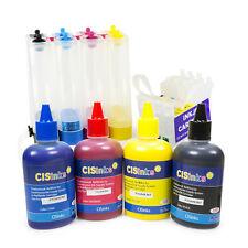 Empty Non-OEM CISS w Pigment Ink Bottle Set for Epson C88 CX5800F CX7800 C68