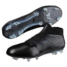 3810bd32ff9 PUMA One 18.1 FG Mens Black Leather Athletic Lace up Soccer Shoes 12