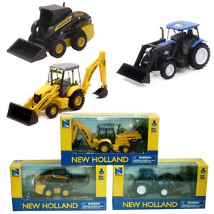 Die-cast New Holland Construction Vehicle Excavator Bulldozer, Skid Steer Loader