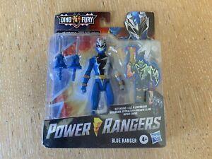 Power Rangers Dino Fury New Series Dino Blue Ranger with key..mega new