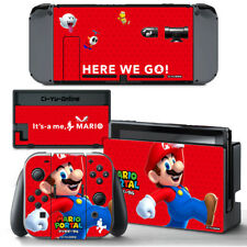 Ci-Yu-Online [NS] Super Mario Red VINYL SKIN STICKER DECAL for Nintendo Switch