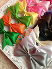 Lot 18 - 5  inches Satin Boutique Hair Bows
