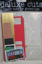 New Scrapbook Craft Trolley San Francisco Laser Die Cut Embellishment Accent