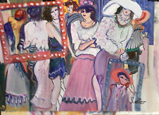"ISRAELI ART - S. Alter - Original - Ladies - 27"" x 20""  Signed Unframed"