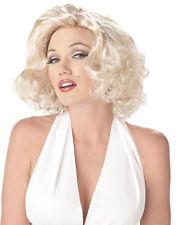 Marilyn Monroe Movie Star Halloween Costume Wig Blonde