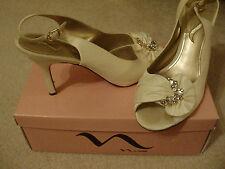Nina Size 10M Valinda Evening Wedding Special Occasion Sling Back Ivory Shoes