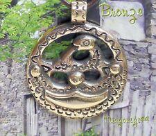 toll Wikinger Anhänger Amulett Bronze Reproduktion Bootsgräber Tuna Lederschnur