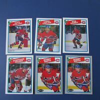 MONTREAL CANADIENS 1988-89 O-Pee-Chee OPC (32 diff) Patrick Roy 7 diff. 1989 HOF