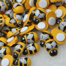 100 pc Bee Stickers Easter Decoration Fridge Magnets  Scrapbooking 9x13MM WB289