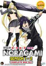 DVD Noragami Season 1 + 2 Complete Box Set ( Vol. 1-26 End ) English Subtitle