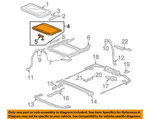 Acura HONDA OEM 04-08 TSX Sunroof Sun Roof-Sunshade Shade Cover 70600SEAJ12ZD
