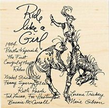 Rodeo Girl Cowgirl Ride Wood Mounted Rubber Stamp Stampendous Stamp W124 NEW