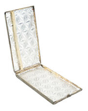 Sterling Silver Feligree & Enamel Antique cigarette Case - c.1890s