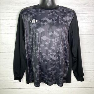 Umbro  Black Soccer Jersey Long Sleeve Men's Size LargeGoalie Jersey