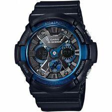 Reloj Para hombres Casio G-shock Negro Correa Ana-digi Negro y Esfera Azul GA200CB-1A
