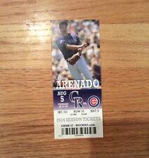 Javier Baez MLB Rookie Debut first game & 1st HR unused ticket stub Cubs 8/5/14