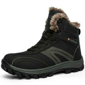 Snow Mens Outdoor Hiking Ankle Boot Shoes Sneakers Fur Inside Non-slip shoes